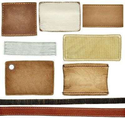 Samples of differing of leather textures